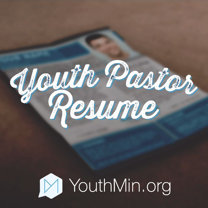 Youth Pastor Resume template | Resources for Youth Ministry ...