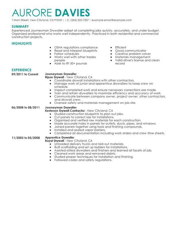 Journeyman Electrician Resume Cover Letter - Contegri.com