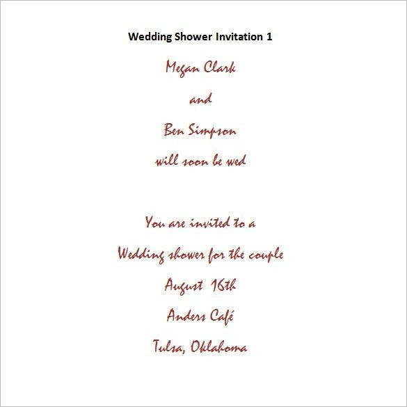Free Bridal Shower Invitation Templates For Word – gangcraft.net