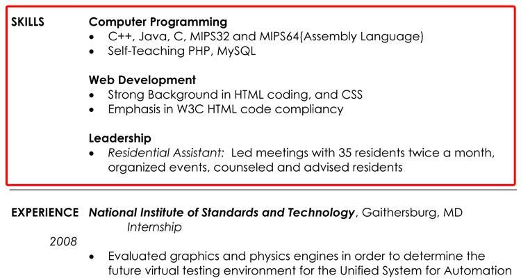 Skill Example For Resume. Cv_Bookkeeper_Resume_Example_Page1 ...