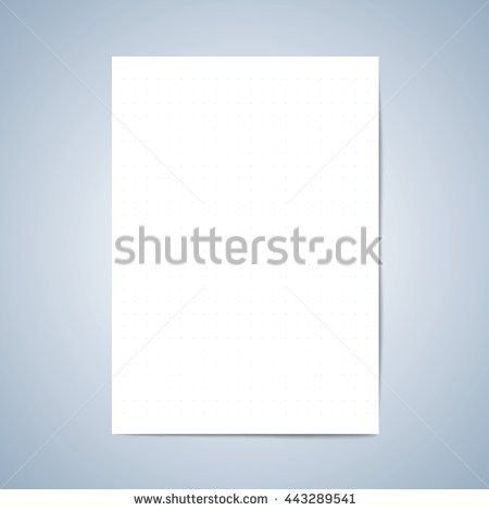 Vector Paper Blank Paper Lined Paper Stock Vector 443289541 ...