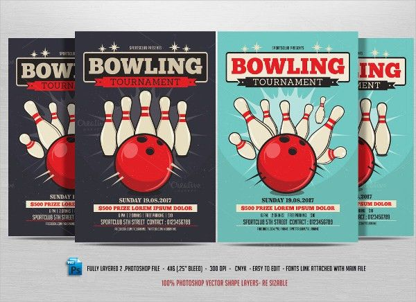 12+ Bowling Flyer Templates - Free PSD, AI Format Download | Free ...