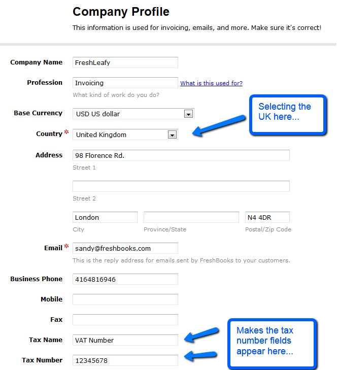 Can I put my tax number on my invoices? | FreshBooks