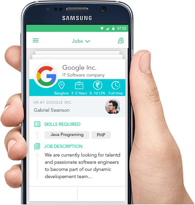 Apply - job searches app developed by peerbits | Tinder like app ...