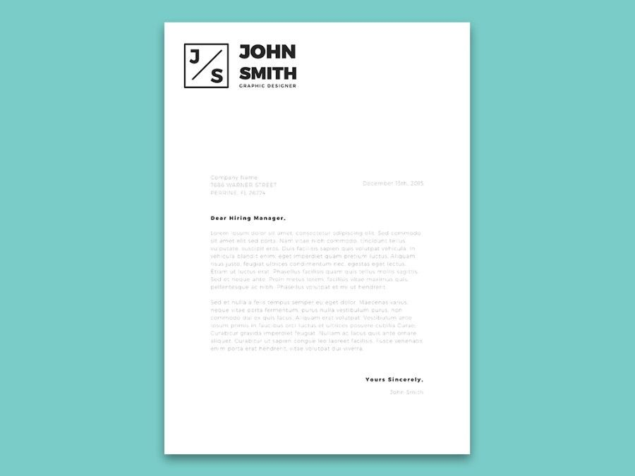 Minimalistic Resume & Cover Letter Template - Free Design Resources