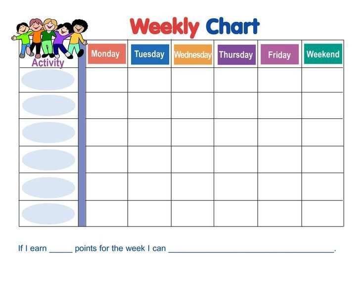 Sample Chart Templates » Monthly Behavior Chart Template - Free ...