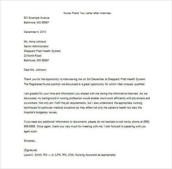 Thank You Letter After Phone Interview - 15+ Free Sample, Example ...