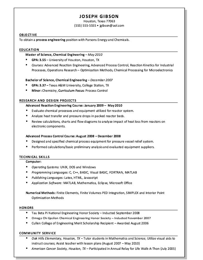 resume format process engineer shankla by paves. process engineer ...