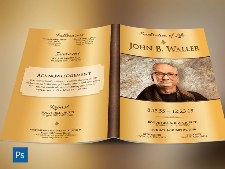 30 best Top Funeral Program Template Designs images on Pinterest ...