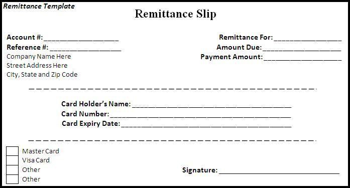 Remittance Template - Word Excel Formats