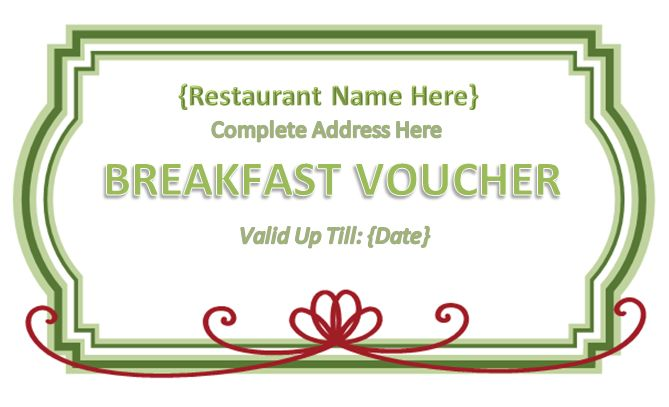 meal ticket voucher template