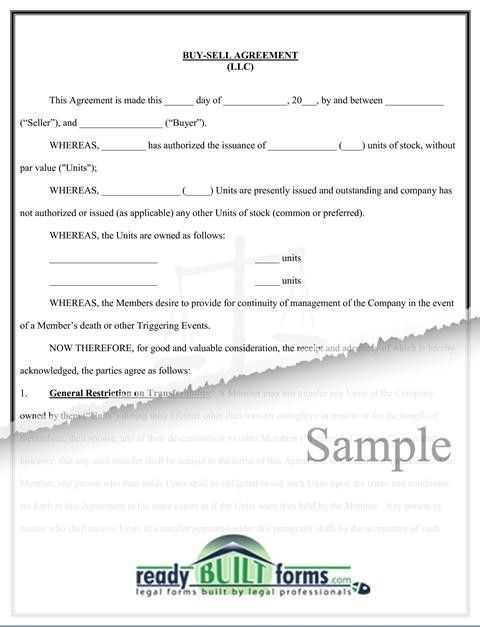 Buy-Sell agreement (LLC)-Download Now