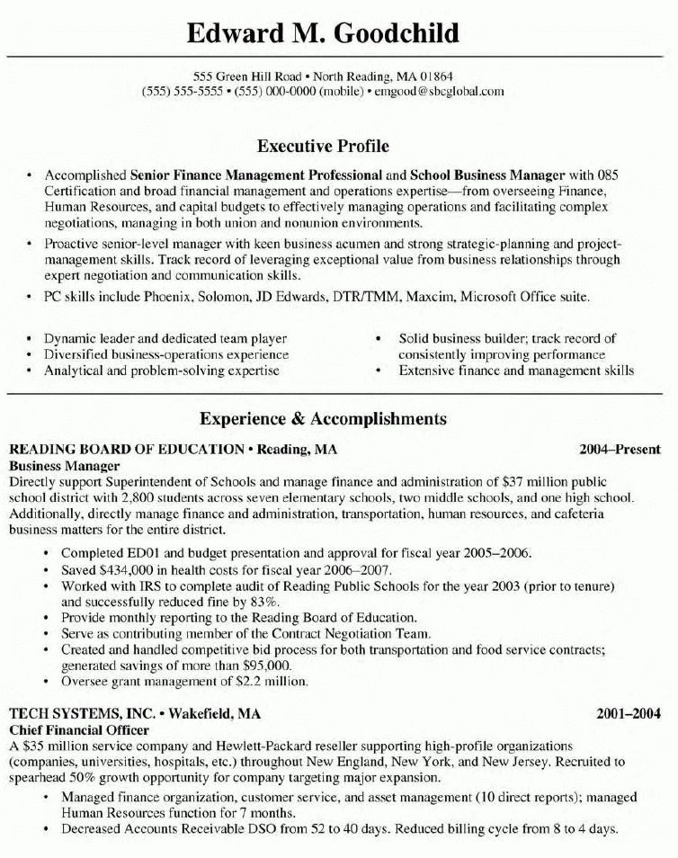 business administration resume sample resume of business ...