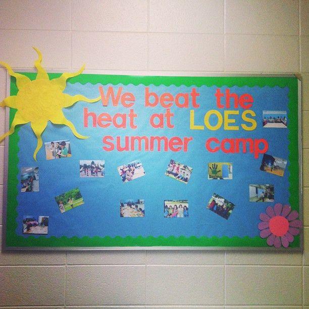 Beat The Heat Summer Camp Bulletin Board Idea | Church Decor ...