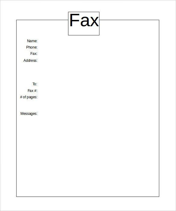 Basic Fax Cover Sheet – 10+ Free Word, PDF Documents Download ...
