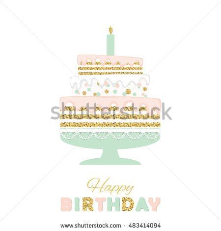 Hand Holding Blue Birthday Cake On Stock Vector 366752828 ...