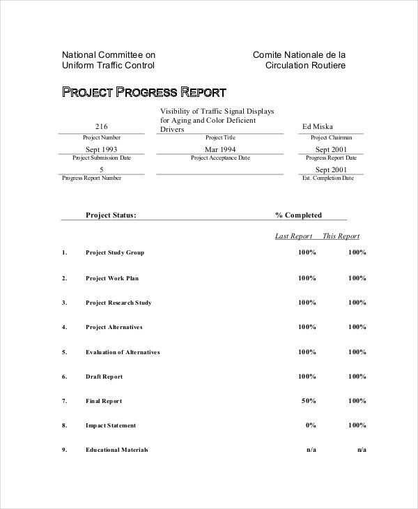 Progress Report Templates - 37+ Free Sample, Example, Format ...