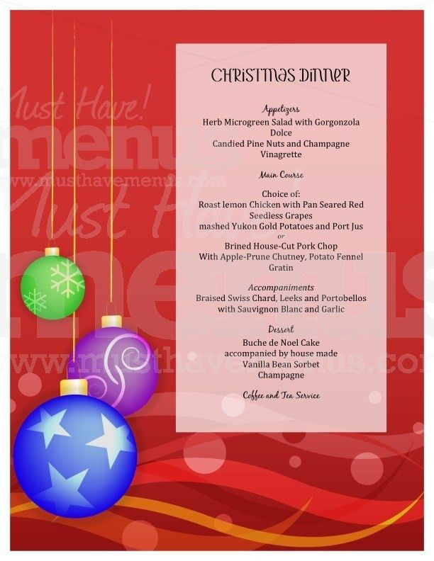 Free christmas dinner menu template free printable holiday dinner 28 free christmas dinner menu template dinner menu template pronofoot35fo Image collections