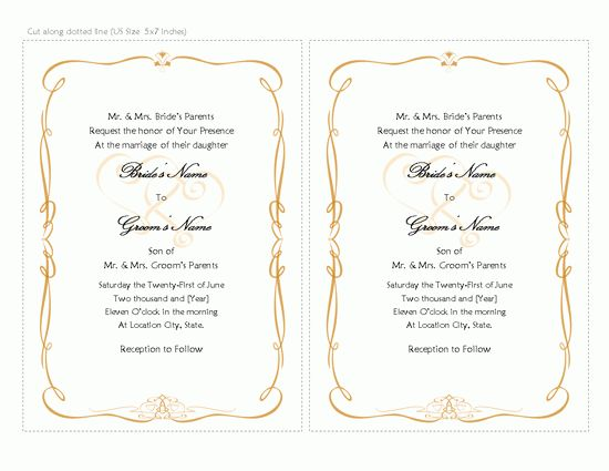 Wedding Invitation Word Template | wblqual.com