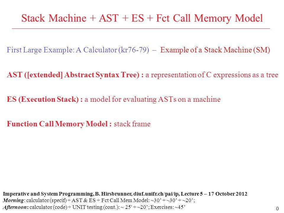 0 First Large Example: A Calculator (kr76-79) – Example of a Stack ...