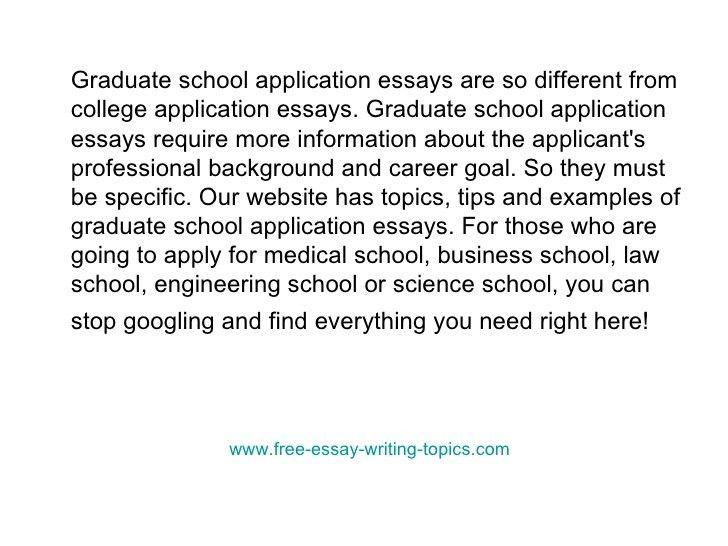 essay for graduate school