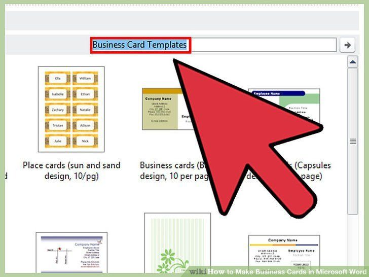 Make Bussiness Cards Part - 48: How To Make Business Cards In Microsoft Word (with Pictures)
