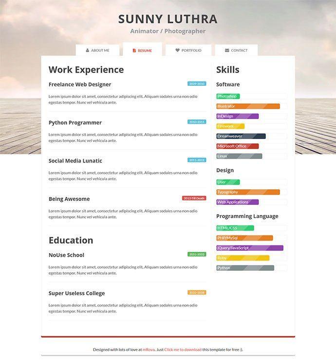Free Resume Examples. Resume Examples Creative Free Resume ...