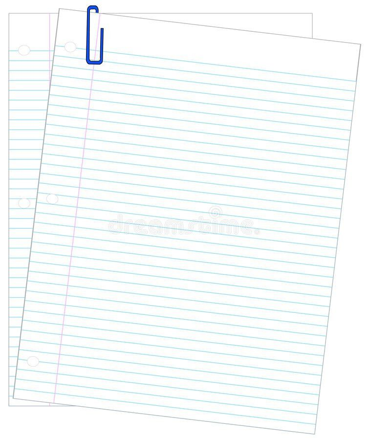 Lined Paper And Paper Clips Stock Image - Image: 4755931