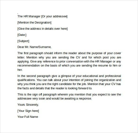 Referral cover letter subject