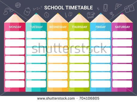 School Timetable Stock Images, Royalty-Free Images & Vectors ...