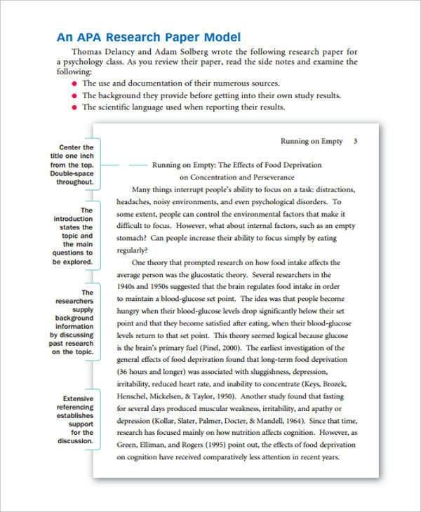 Research Paper Samples. Sample College Research Paper Research ...