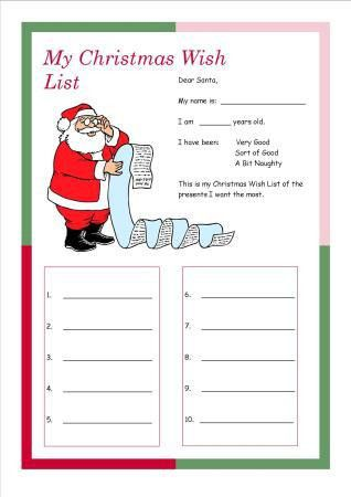 Christmas Wish List Printable - Christmas Tree Farm Blog | My ...