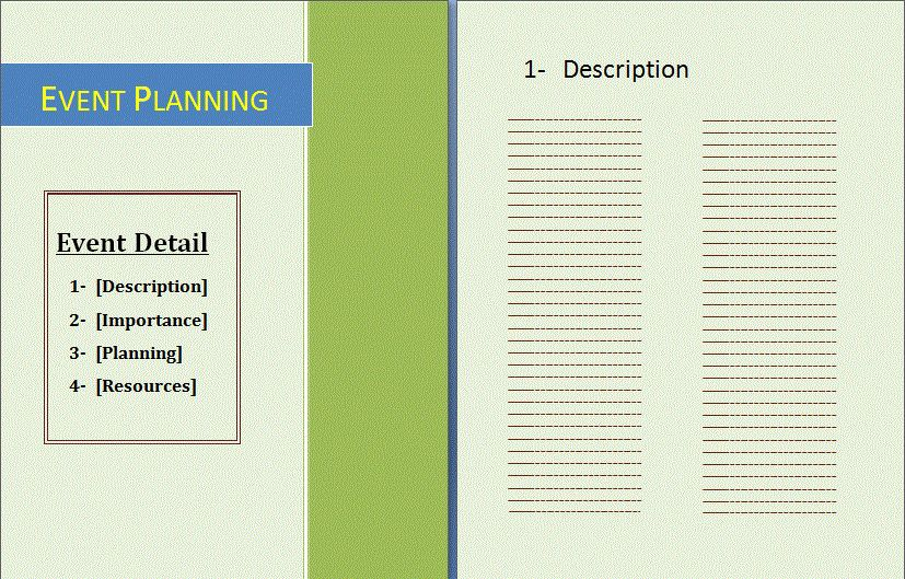 free event planner templates