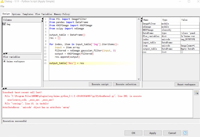 Errors in Python Scripting Example(Solved) | KNIME