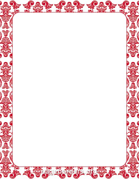 Printable purple damask border. Use the border in Microsoft Word ...