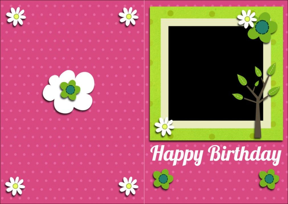 Birthday Card Template. Minimalist Free Birthday Card Template To ...