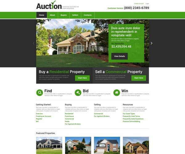 30+Real Estate HTML5 Templates