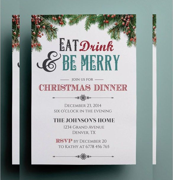 21+ Christmas Invitation Templates – Free Sample, Example, Format ...