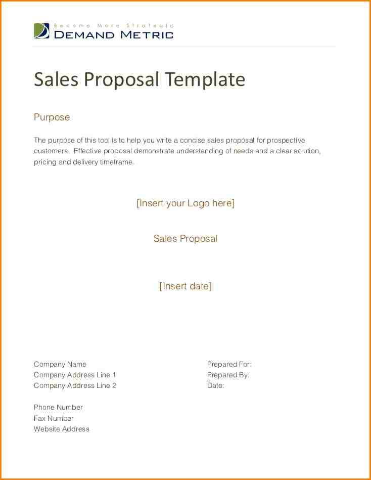 8+ sales proposal example | writable calendar