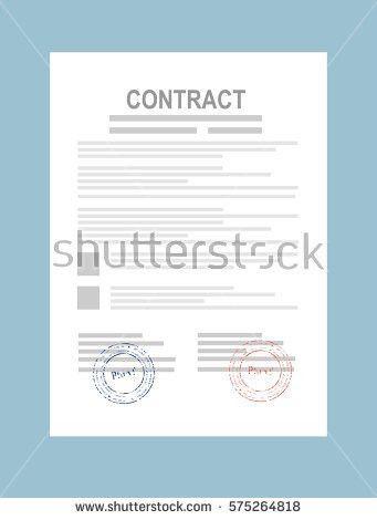 Contract Agreement Paper Blank Seal Vector Stock Vector 575264818 ...