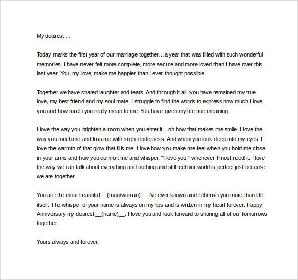 9+ Love Letter Templates to My Wife - Free Sample, Example, Format ...