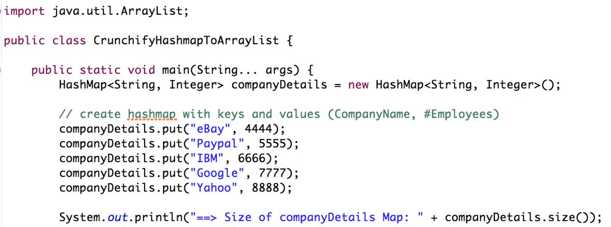 How to convert HashMap to ArrayList in Java? • Crunchify