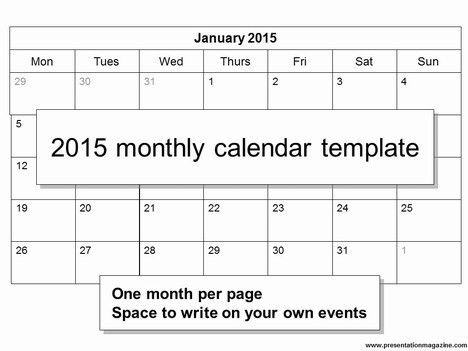 Monthly Printable Calendar 2015 - gameshacksfree