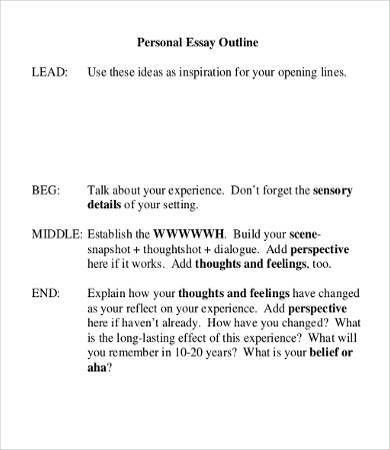 Personal Essay Template - 9+ Free Word, PDF Documents Download ...