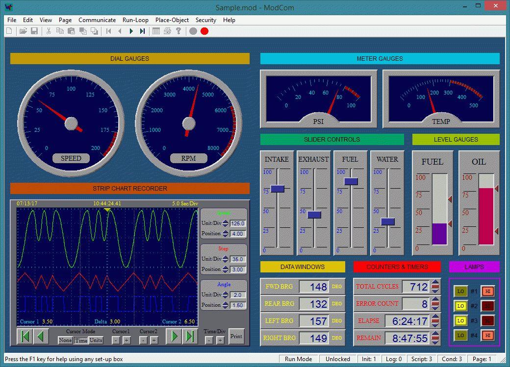 ModCom HMI SCADA Software