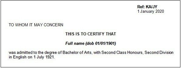 Education verification letters | Student Guidance Centre | Queen's ...