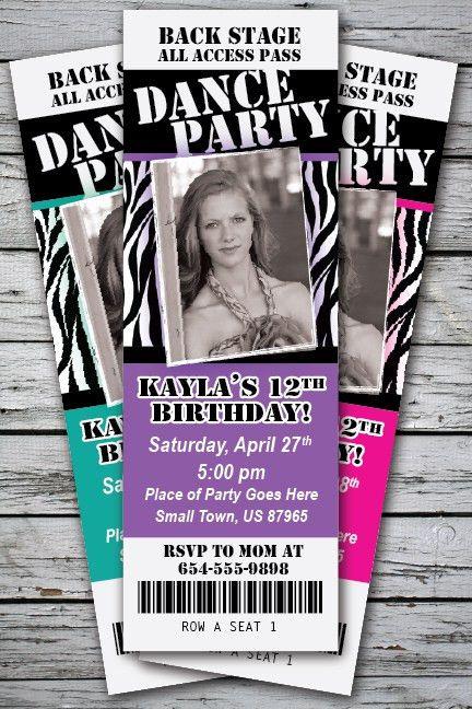 Party Ticket Invitations   cimvitation