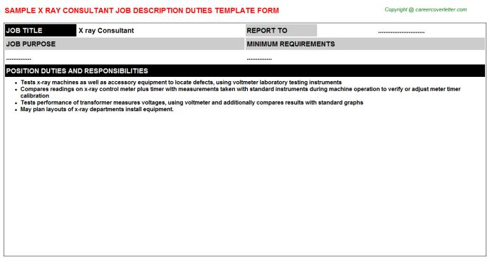 X Ray Technologist Job Description. explore apply for radiology ...