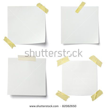 Set Blank Torn Paper Sheets Isolated Stock Vector 554632078 ...
