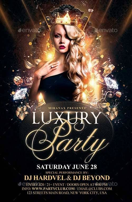 Best 20 Gold and Luxury Flyer Templates - Download PSD